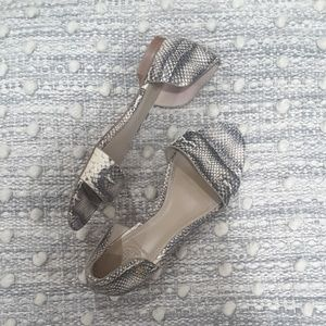 Tory Burch Savannah Snake Embossed Flat Sandal
